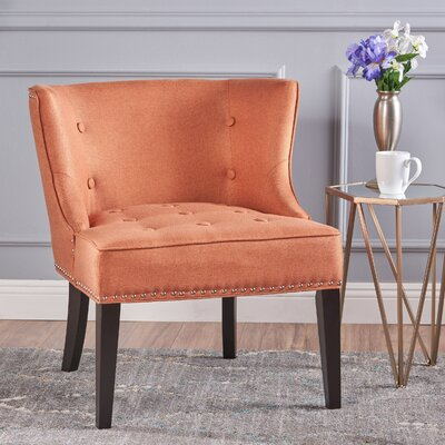 Staas Barrel Chair Upholstery: Orange