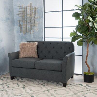 Augustus Monrovia Loveseat Upholstery: Dark Gray