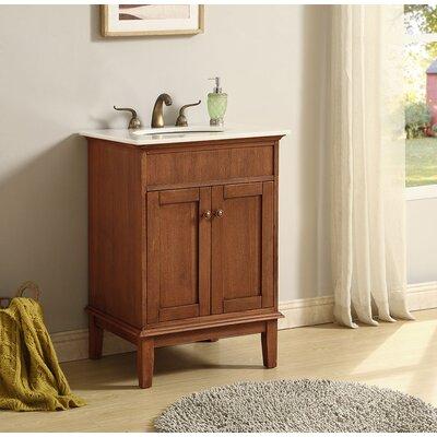 Kammerer 24 Single Bathroom Vanity Set Base Finish: Chestnut Wood