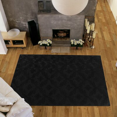 Spafford Black Area Rug Rug Size: Square 12