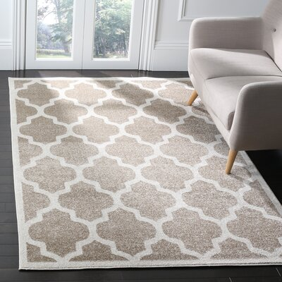 Carman Beige Indoor/Outdoor Area Rug Rug Size: Rectangle 5 X 8