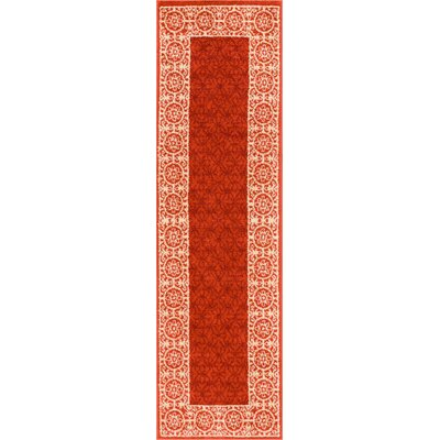 Otterville Red Area Rug Rug Size: Runner 2 x 73