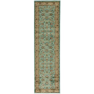 Brew Kettle Traditional Blue Area Rug Rug Size: Runner 23 x 73