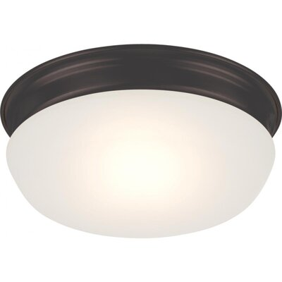 Gwendoline 1-Light Flush Mount Finish: Aged Bronze