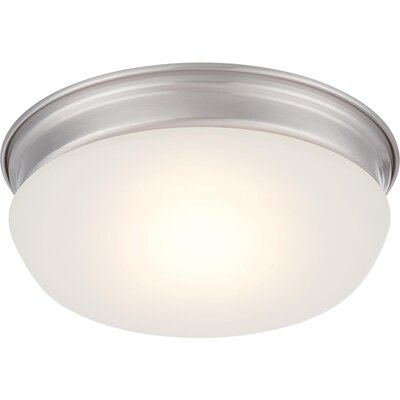 Gwendoline 1-Light Flush Mount Finish: Brushed Nickel