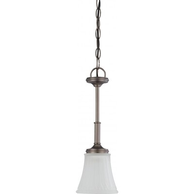 Hinde 1-Light Mini Pendant Finish: Aged Pewter