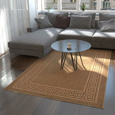 Flint Brown Outdoor Area Rug Rug Size: Rectangle 53 x 8
