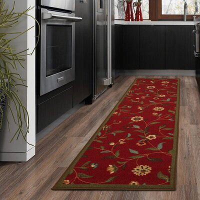 Bunyard Red Area Rug Rug Size: Runner 110 x 7
