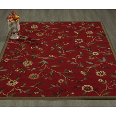 Bunyard Red Area Rug Rug Size: Rectangle 82 x 910