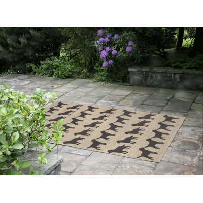 Allgood Doggies Natural Indoor/Outdoor Area Rug Rug Size: Rectangle 26 x 4