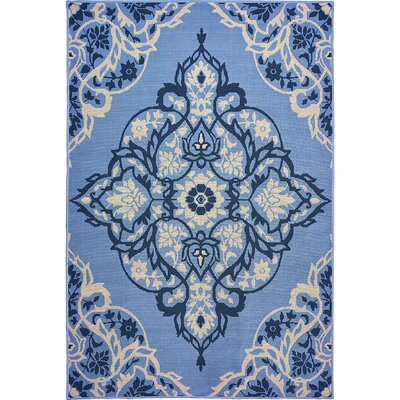 Sattler Blue/Gray Indoor/Outdoor Area Rug Rug Size: 710 x 910