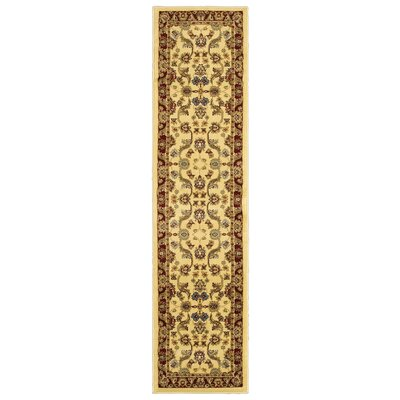 Rowena Persian Cream & Red Area Rug Rug Size: Runner 11 x 69