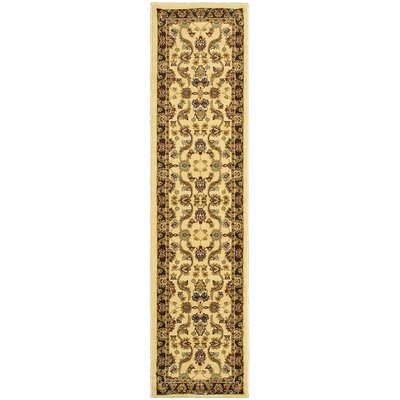 Rowena Persian Cream/Brown Area Rug Rug Size: Runner 11 x 69