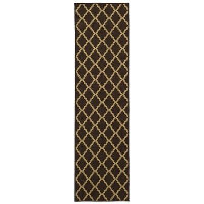 Bunyard Moroccan Trellis Design Chocolate Area Rug Rug Size: Runner 2 x 7