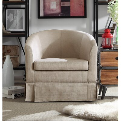 Clifford Barrel Chair Color: Beige