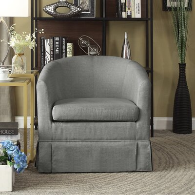 Clifford Barrel Chair Color: Gray