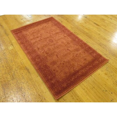 Aledo Rust Red Area Rug Rug Size: Rectangle 4 x 6