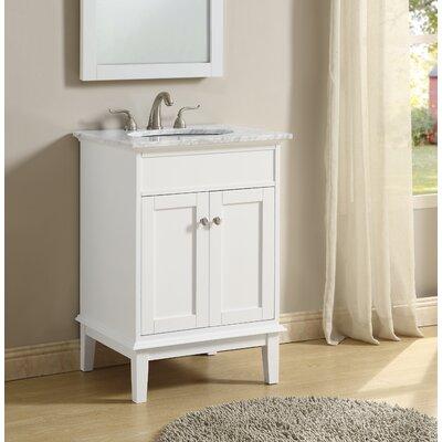 Kammerer 24 Single Bathroom Vanity Set Base Finish: White