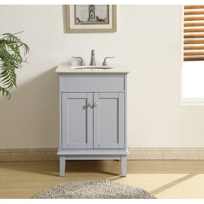 Kammerer 24 Single Bathroom Vanity Set Base Finish: Gray