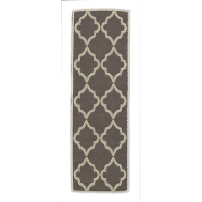 Bernadette Nature Cotton Brown Area Rug Rug Size: Runner 18 x 411