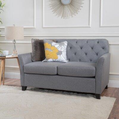 Augustus Monrovia Loveseat Upholstery: Gray
