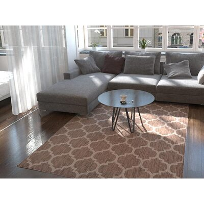 Hampstead Brown Outdoor Area Rug Rug Size: Rectangle 6 x 9