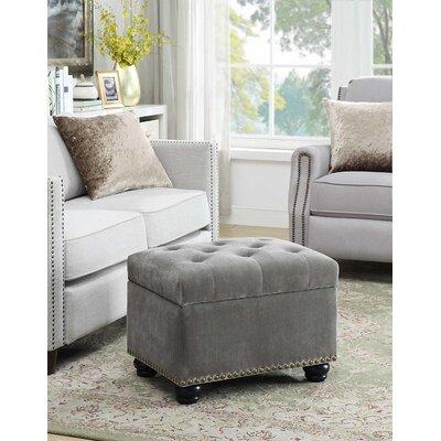 Bernadette Storage Ottoman Upholstery: Velvet Gray
