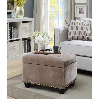 Bernadette Storage Ottoman Upholstery: Velvet Taupe