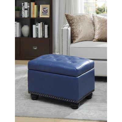 Bernadette Storage Ottoman Upholstery: Blue PU