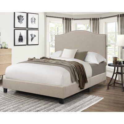 Bulpitt Camel Back Queen Upholstered Panel Bed