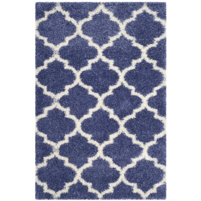 Bingham Blue Area Rug Rug Size: Rectangle 4 x 6
