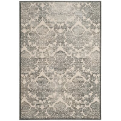 Orville Cream/Blue Area Rug Rug Size: Rectangle 4 x 57