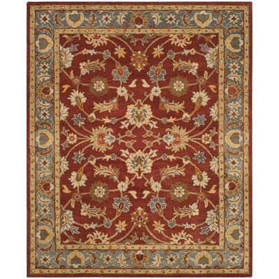 Cranmore Hand-Tufted Red/Blue Area Rug Rug Size: Rectangle 8 x 10