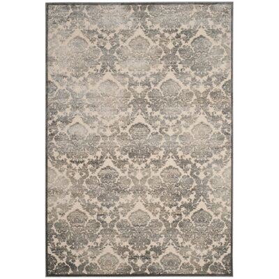 Orville Cream/Blue Area Rug Rug Size: Rectangle 5'3