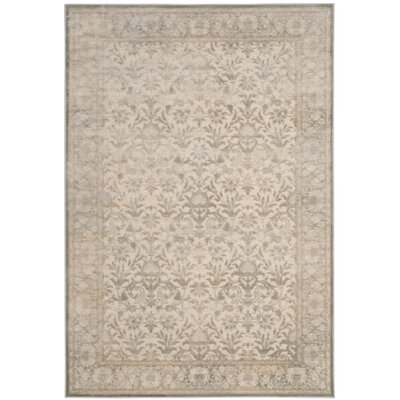 Orville Cream/Blue Area Rug Rug Size: Rectangle 53 x 76