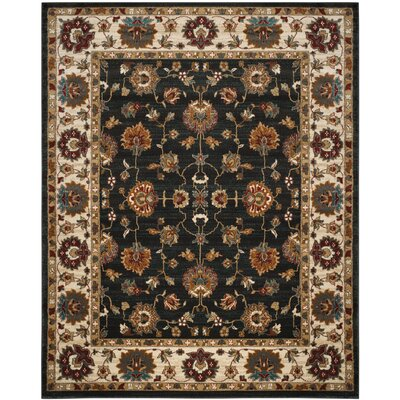 Lowe Dark Grey/Ivory  Area Rug Rug Size: Rectangle 8 x 10