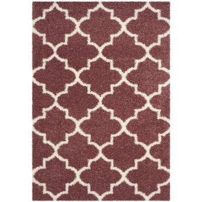 Bingham Pink Indoor  Area Rug Rug Size: Rectangle 53 x 76