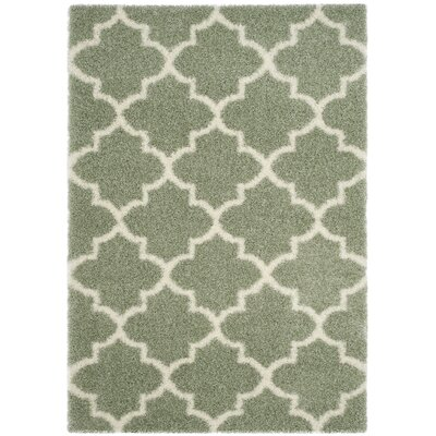 Bingham Green Indoor Area Rug Rug Size: Rectangle 53 x 76
