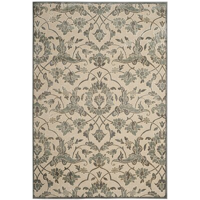 Patrick Cream/Slate Area Rug Rug Size: Rectangle 53 x 76