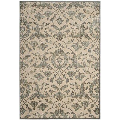 Patrick Cream/Slate Area Rug Rug Size: Rectangle 53 x 76