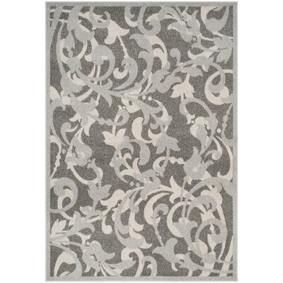 Neil Gray/Light Gray Indoor/Outdoor Area Rug Rug Size: Rectangle 3 x 5