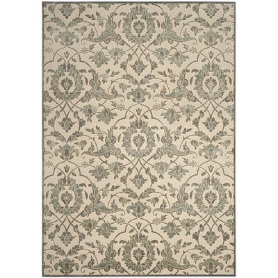 Patrick Cream/Slate Area Rug Rug Size: Rectangle 8 x 112