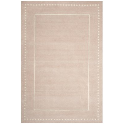 Amundson Hand-Tufted Beige Indoor Area Rug Rug Size: Rectangle 26 x 4