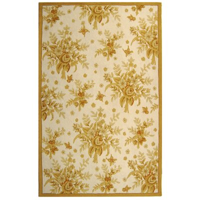 Helena Ivory/Gold Rug Rug Size: Rectangle 53 x 83