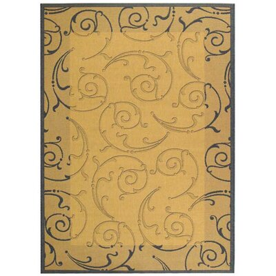 Alberty Natural / Blue Outdoor Area Rug Rug Size: Rectangle 67 x 96