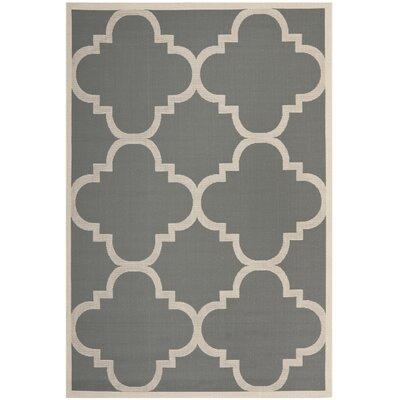 Octavius Gray/Beige Indoor/Outdoor Area Rug Rug Size: Rectangle 53 x 77