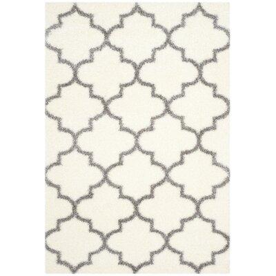 Bingham Beige/Gray Indoor Area Rug Rug Size: Rectangle 53 x 76