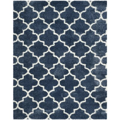 Bingham Blue/White Area Rug Rug Size: Rectangle 8 x 10