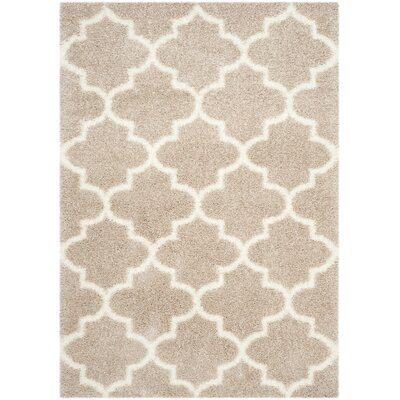 Bingham Beige Area Rug Rug Size: Rectangle 53 x 76