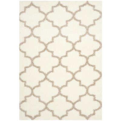 Bingham Beige Indoor Area Rug Rug Size: Rectangle 53 x 76